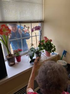Assisted living residents at Regency in Jackson are staying connected despite social distancing.