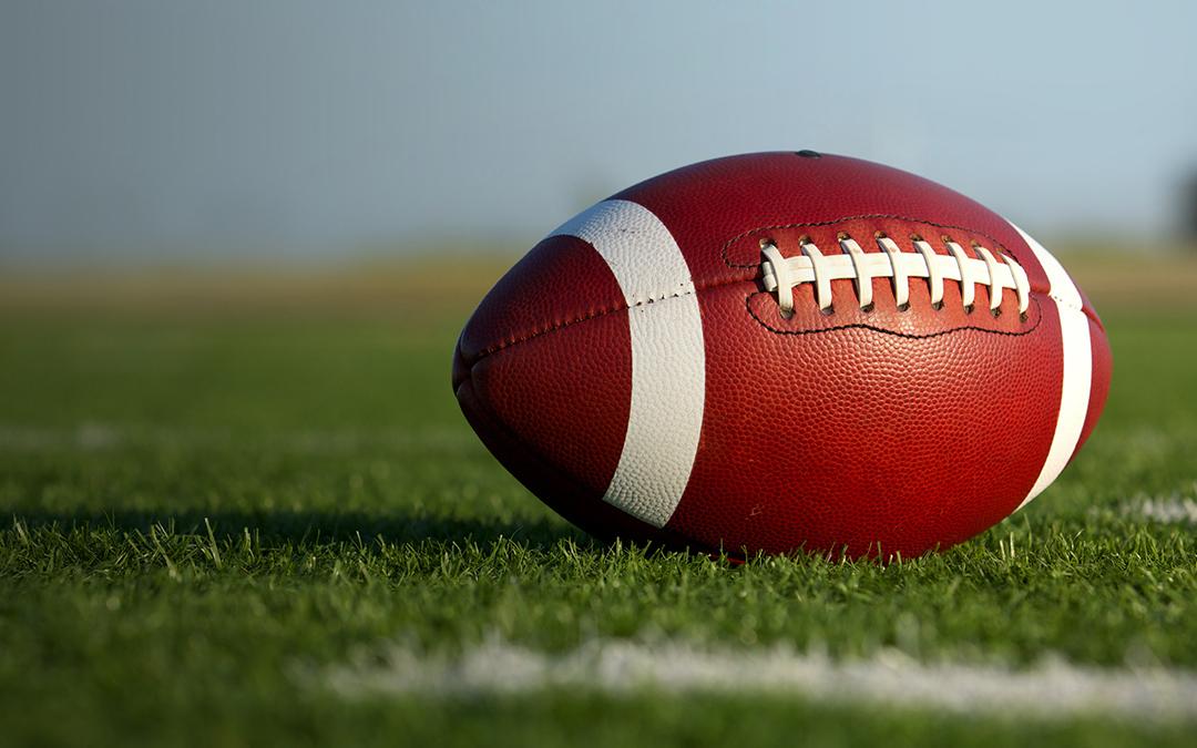 football in the grass for football season